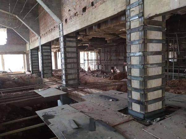 水泥厂外包钢加固工程